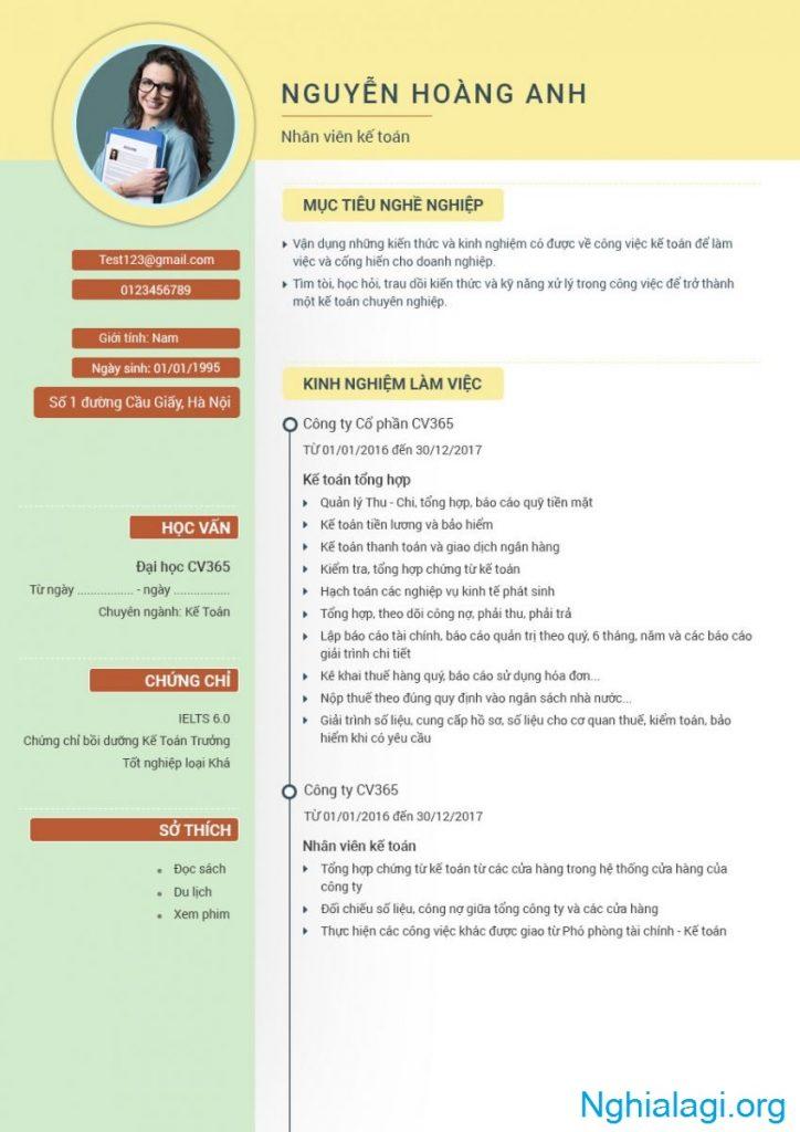 CV Là Gì - Cách Viết Mẫu CV Xin Việc Tiếng Anh, Tiếng Việt - Nghialagi.org
