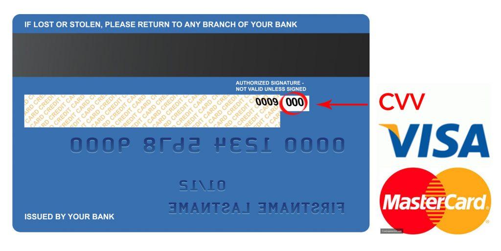 Vị trí của số CVV trên thẻ tín dụng - Nghialagi.org