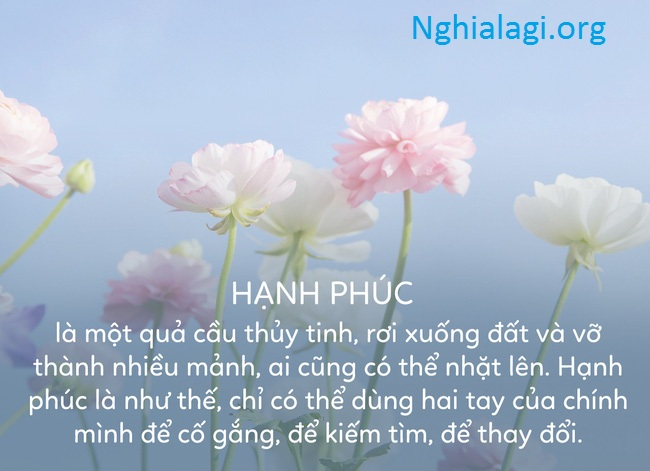 Theo bạn hạnh phúc là gì? Và đáng giá bao nhiêu? - Nghialagi.org