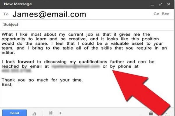 Tóm lại vấn đề và dành lời cảm ơn tới nhà tuyển dụng - Nghialagi.org