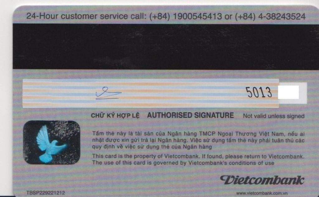 Mặt sau của thẻ - Nghialagi.org
