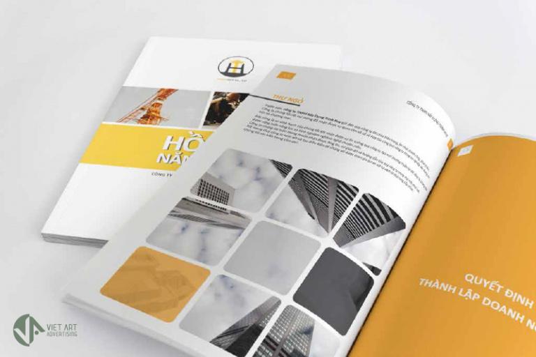 """Mẫu portfolio có thể có nhiều trang và đóng thành cuốn như thế này nếu doanh nghiệp của bạn có quy mô hoạt động lớn và có nhiều thông tin muốn """"show"""" cho khách hàng - Nghialagi.org"""