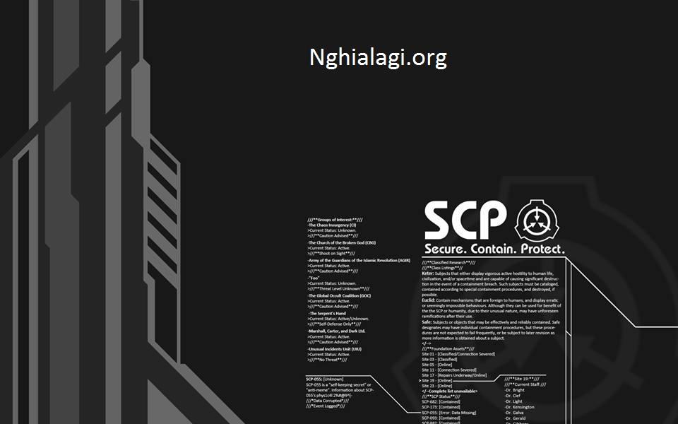 SCP là gì? Giải đáp thắc mắc về scp và tổ chức ở đâu - Nghialagi.org