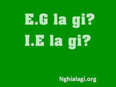 i.e là gì? i.e và e.g khác nhau như thế nào? - Nghialagi.org