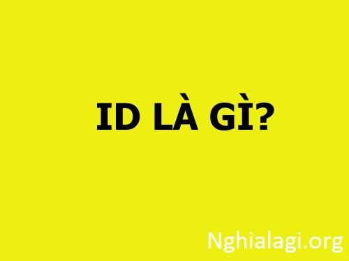 ID Là Gì ?, Ý Nghĩa Một Số Loại Mã ID Phổ Biến Nhất Hiện Nay - Nghialagi.org
