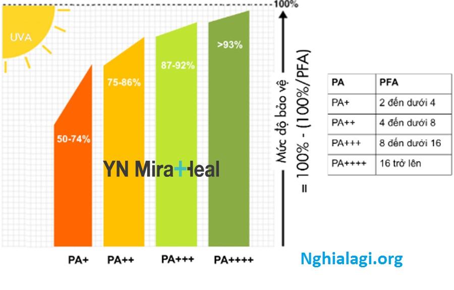 Chỉ số PA trong kem chống nắng có mấy cấp độ? Ý nghĩa của chỉ số PA - Nghialagi.org