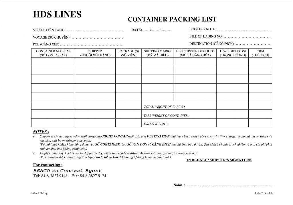 Packing list là gì? Vai trò packing list trong xuất nhập khẩu? - Nghialagi.org