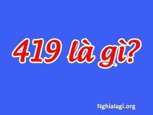 419 là gì? 419 có phải là 'For One Night' không? - Nghialagi.org