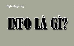 Info là gì? Những ý nghĩa của Info - Nghialagi.org